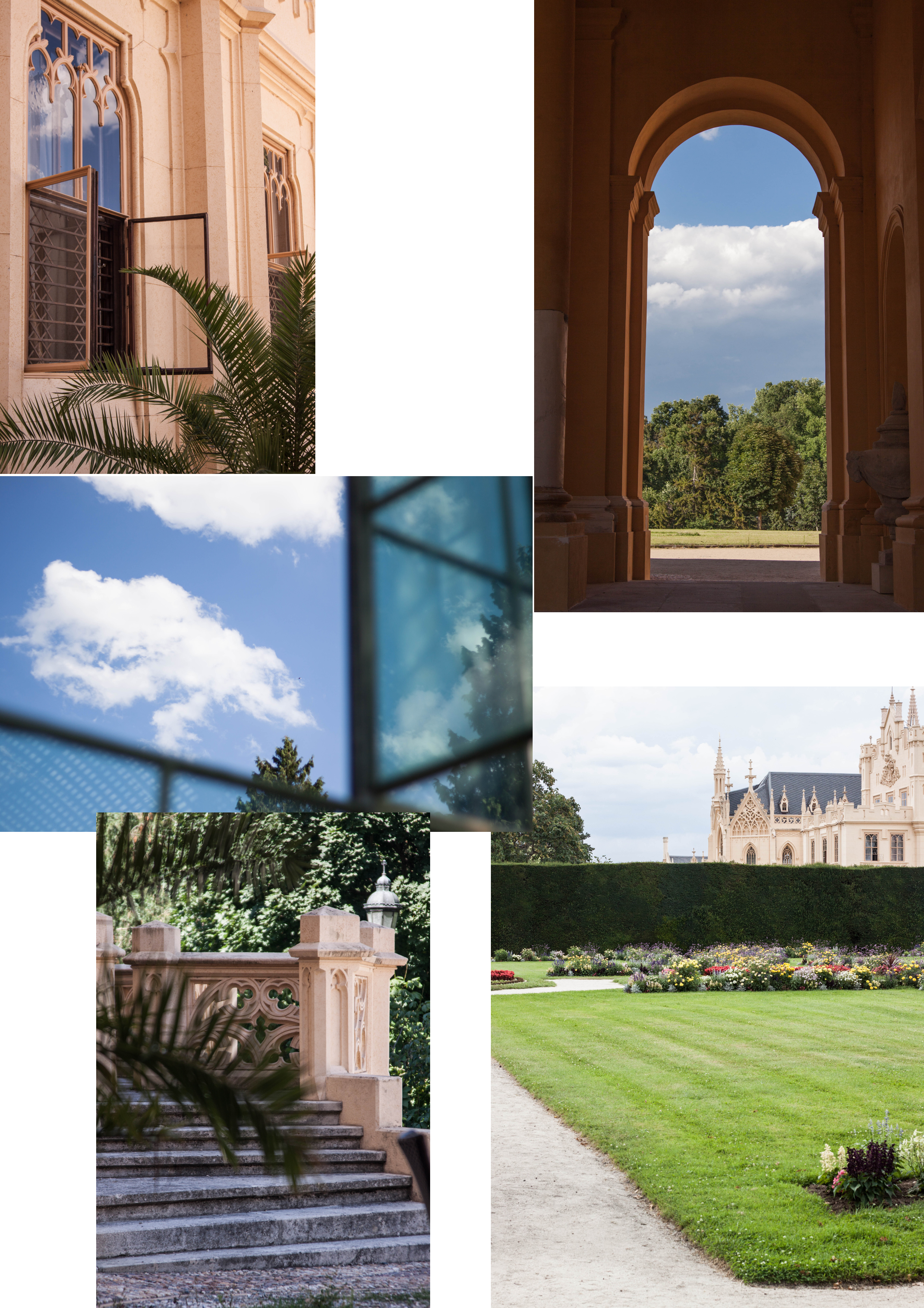 collage_lednice_chateau